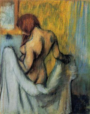 Degas, Edgar woman-with-a-towel-1898