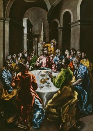 El greco feast-in-the-house-of-simon 1610
