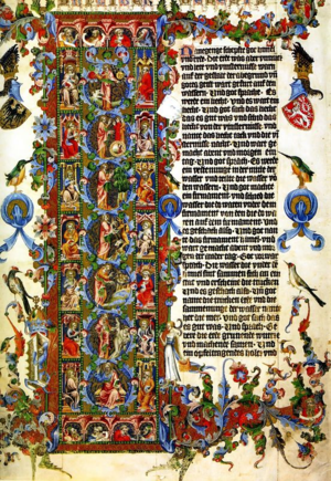 Initial_Letter_L_of_Genesis_Wenceslas_Bible_Illuminated_1389