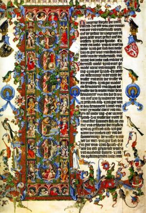 Initial_Letter_L_of_Genesis_Wenceslas_Bible_Illuminated_1389