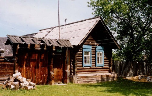 CABIN IN URALS VILLAGE